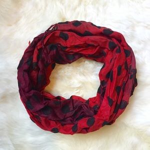 Accessories - Red Polkadot Ombré Pashmina Scarf