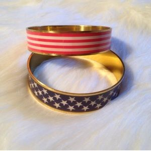 Jewelry - NWT American Flag Bracelet Set