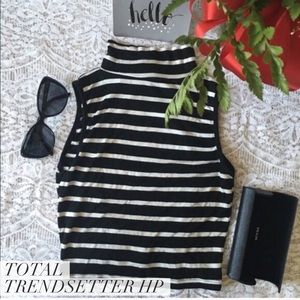 Arden B Tops - Striped Crop