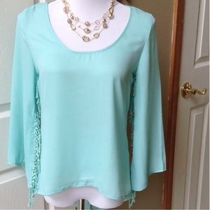 Mint Green hi/low Blouse