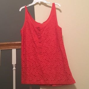 J. Crew Lace Over Tank
