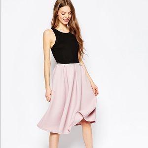 Asos midi dress w low V back in contrast fabric