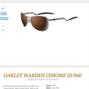 Oakley Warden Sunglasses Chrome/vr28 Black Iridium