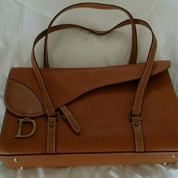 6e7d109e11 Dior Bags | Christian Brown Leather Vintage Purse | Poshmark