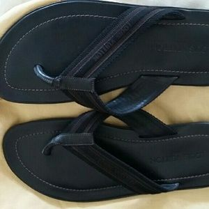 5c8065ed838c Louis Vuitton Shoes - Mens Louis Vuitton Black Leather Sandals Brand New