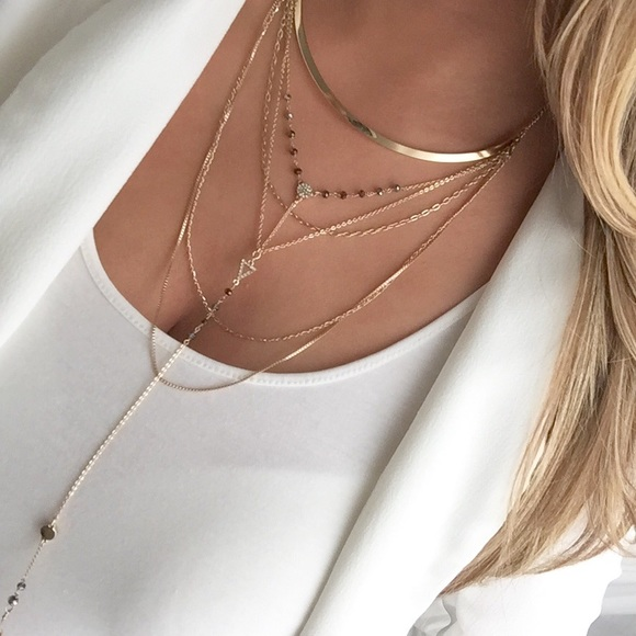 Image result for layered gold necklace