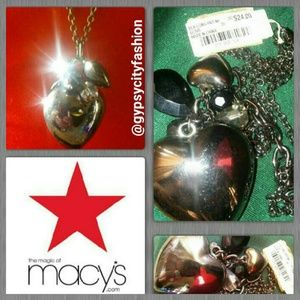 Macy's Jewelry - Double Hearts n' Charms Necklace NWT