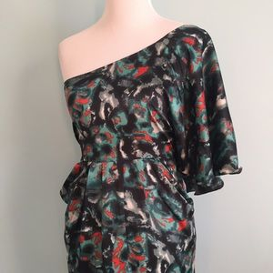 Collective Concepts Dresses & Skirts - One-Shoulder Printed Dress