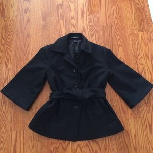 Gap 3/4 sleeve wool coat