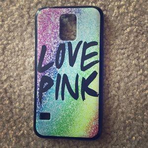 Accessories - VS Pink Case Galaxy S5