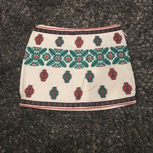 Zara tribal mini skirt