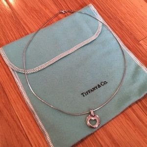 Heart-charm sterling silver necklace from Tiffany