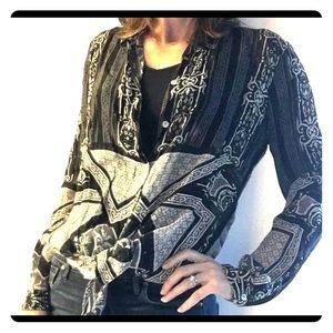 Anthropologie Kyla Seo lightweight Blk/wht tunic