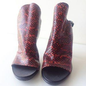 Balenciaga Shoes - Balenciaga Snake-Printed Glove Sandal