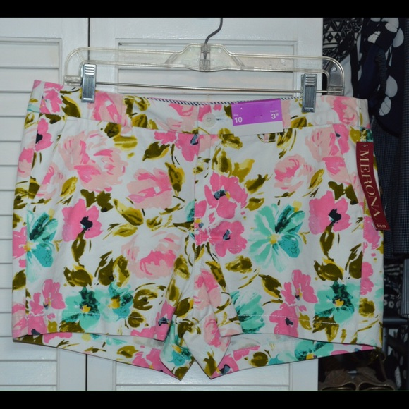 Merona Pants - Merona floral shorts from Target