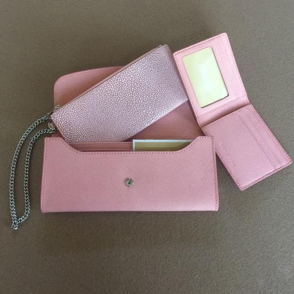 777543d74e72 Micheal Kors Pink Juliana Large Flap Wallet Clutch