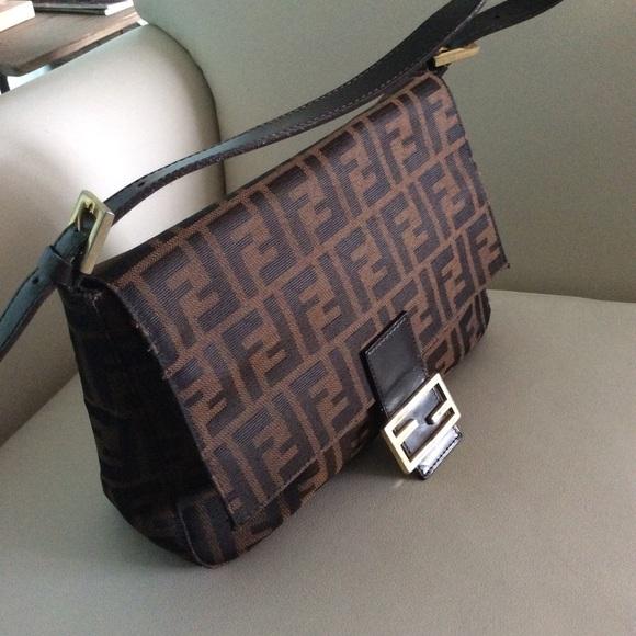 16c538b7e3da FENDI Handbags - Fendi Zucca print Mama forever flap shoulder bag
