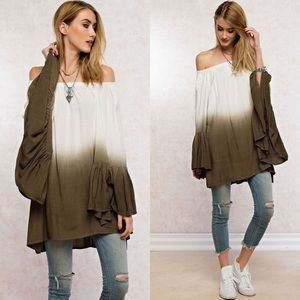 Tops - Deep Dye Tunic Top