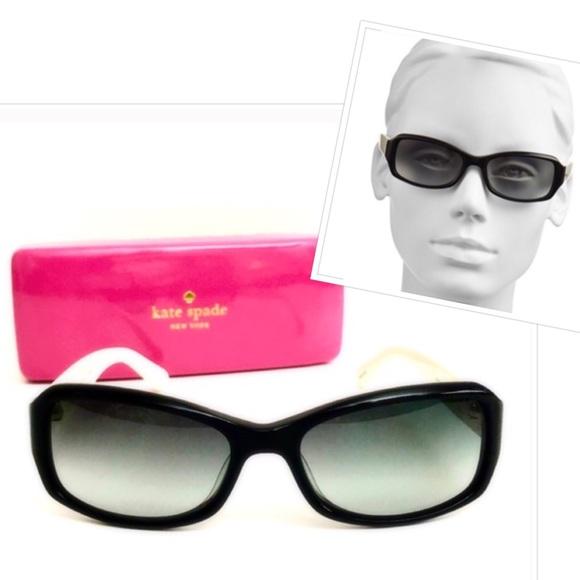 f7e6fef6f8cd9 kate spade Adley 53mm Lens Black White Sunglasses