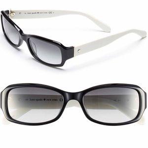 3bc5f72752f7c kate spade Accessories - kate spade Adley 53mm Lens Black White Sunglasses