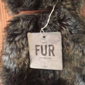 c6a506187cf3 Restoration Hardware Bags - Restoration Hardware luxe faux fur wine bag NWT