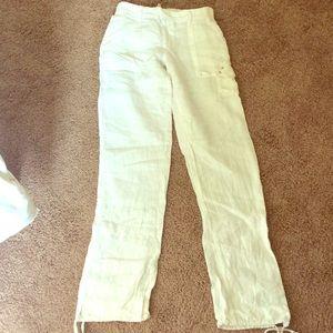 Lucy Love Pants - WHITE LINEN PANTS - NWOT