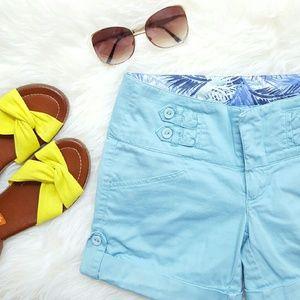 Copper Key Pants - {Copper Key} Turquoise Button Shorts