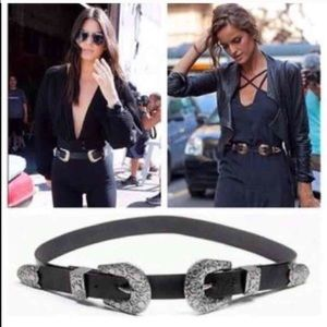 Accessories - 🆕 Ready to Ship• Double Buckle Western Style Belt