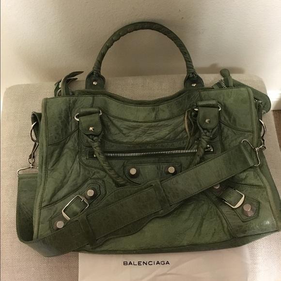 d9eae21ac21 Balenciaga Bags | Giant City Moss Green Toteshoulder Bag | Poshmark