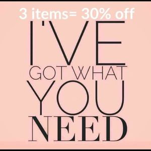 Accessories - 3 items equals 30% off in boutique!