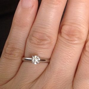 Jewelry - 14k white gold genuine Diamond engagement ring