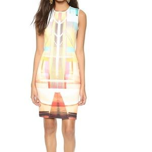 Clover Canyon Fluorescent lights geometric dress