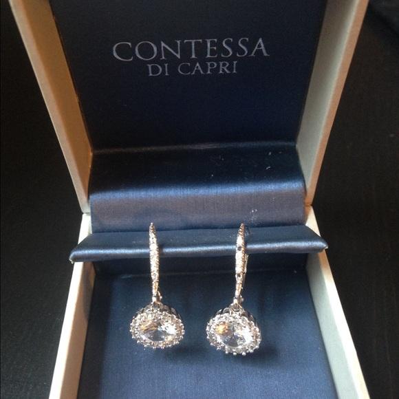 05670962d Contessa Di Capri Jewelry | Sterling Silver Drop Cz Earrings | Poshmark