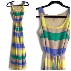 LOFT Dresses & Skirts - REDUCED 🎉 Colorful Stripe Maxi Dress