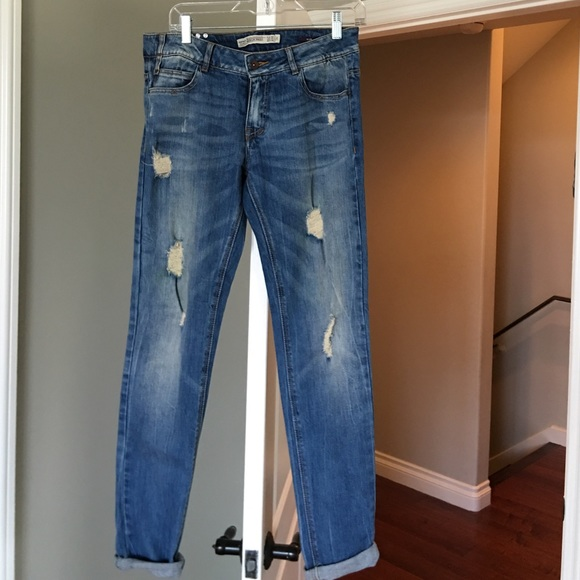 33 off zara denim zara slim distressed boyfriend jeans. Black Bedroom Furniture Sets. Home Design Ideas