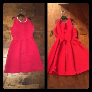 Dresses & Skirts - Red Dress with Rhinestone Necklace