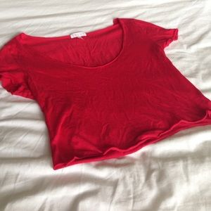 Leith cherry red crop top