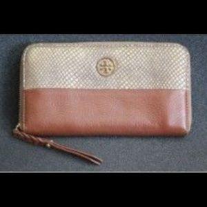 Tory Burch snakeskin leather wallet!