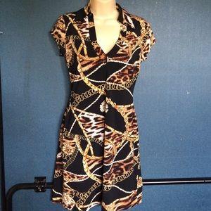 Cache chain print dress Sz S