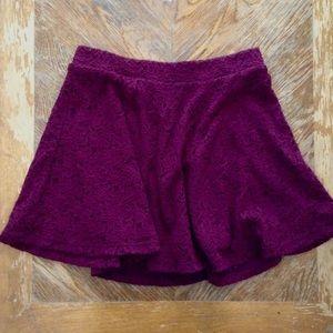 Forever 21 Dresses & Skirts - Forever 21 Purple Lace Stretchy Skater Skirt
