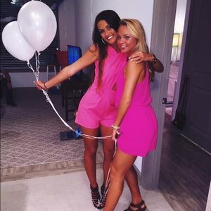 Dresses & Skirts - Hot pinky romper