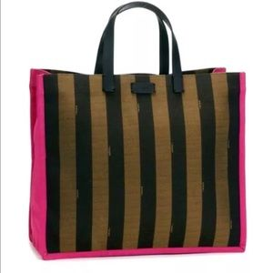 Fendi Pequin Shopping Tote - Large -NWT