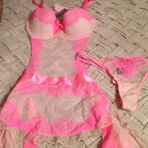 Pink Victoria Secret Sexy Little Things Set