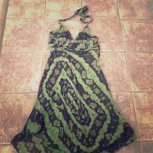 BCBG tie dye green dress
