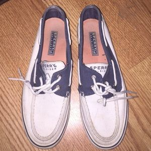 Sperry Top-Sider Shoes - Sperrys white and blue 6 1/2