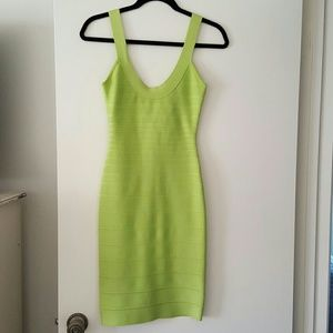 Herve Leger XS lime green dress