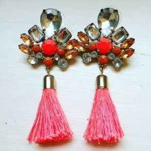 Neon H&M Tassel Earrings