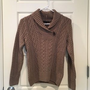 Brownish-tan Cable Knit Sweater