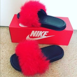 Best Deals for Furry Nike Slides | Poshmark