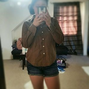 Tops - Brown long sleeve button down